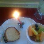 First Course of Birthday Breakfast.  The food is FANTASTIC!