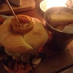 Burger at old bear inn
