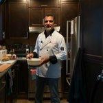 Tony prepares the fresh breakfast