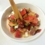 Tuna, coconut & watermelon ceviche