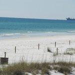 Sugar sands and beautiful ocean near the outdoor bar