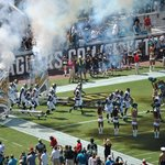 Jaguars coming on to the field