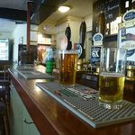 The bar and pint of real ale