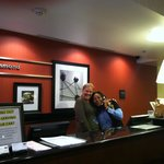 Tonya & Wanda at the front desk