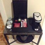 cool coffee and tea setup