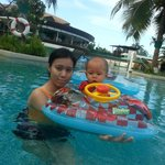 My wife & son enjoy the pool