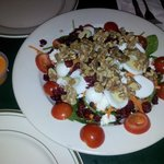 Salad with nuts and fruits