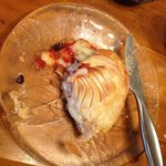 Whitestone Brie, filled with homemade chutney and pastry-baked. just a 'wee snack'! divine!