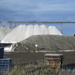 July 2014 Salt piles from road.