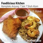 #musthave #pasta #combo #southernfried #chicken #chop and #spicy #seafood #aglio #olio #seriousl