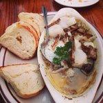 Scallops and mushroom, simply delish!