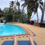 The pool and beach at the Weekender Villa Beach Hotel