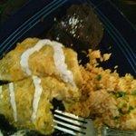 Chicken Verde enchilada