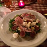Salade figues,bacon,fromages
