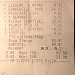 Take a look to 7 euros for a bottle of water!