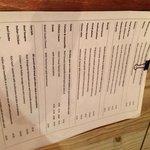 The strange menu!