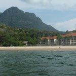 View of resort with Mt Santubong behind
