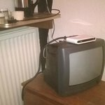 telly from the 70s with NO signal half the time