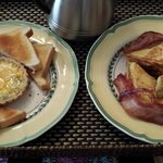 Vegetarian Quiche and Stuffed French Toast