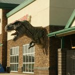 Dinosaur at Grocery Store (next door to hotel)