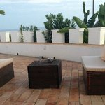 Outside on the terrace