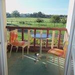la terrasse avec vue sur le jardin