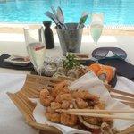 Déjeuner - Sushis, Crevettes, Cava - Un délice