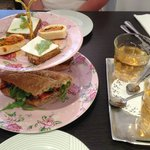 High Tea Part 2 - Nice tandoori chicken sandwich with yogurt sauce
