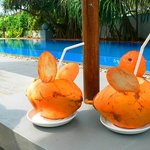 Complimentary king coconuts served daily