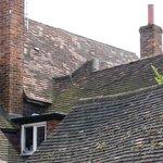 Roofscape of quaint Fat Fox Inn