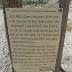 Sign describing the start of China Ranch
