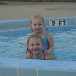 kids in the small pool