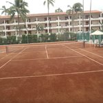 One of the two tennis courts