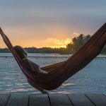 one of the many hammocks on the dock