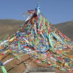 Abundant prayer flags