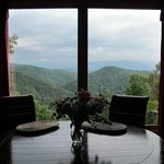 View from the breakfast nook of Mountain Dreams