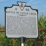 Cedar Creek Battlefield Marker