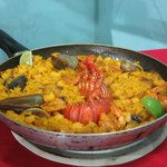 1-person lobster & seafood paella