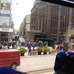view of Stockmanns from sightseeing bus