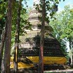 The tall cheddi at Wat Chedi Luang
