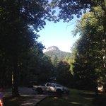 Pilot Mountain View from Pilot Knob Inn