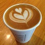 Delightful design on the cappuccino