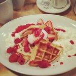 Raspberry Waffles!