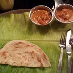Some roti and the two dishes we got,  an appam came later