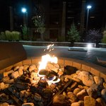 outdoor gas fire