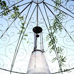 Our New Wrought Iron Gazebo is starting to be covered in vines