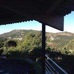 Uitzicht in de middag vanaf balkon 'Coquilles'
