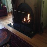 The beautiful fire place