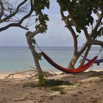 Each fale has its own hammocks and patch of beach.