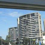 ホテルハーバービューの窓からのハーバー